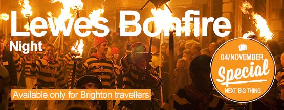 Student tour to Lewes Bonfire Night 2017