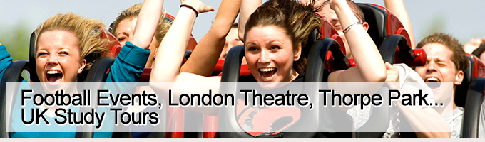 Student Tours to Thorpe Park, Football Events, London Theatre...